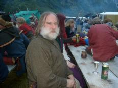 Me at a Viking feast at Gudvangen, Norway, in July 2008